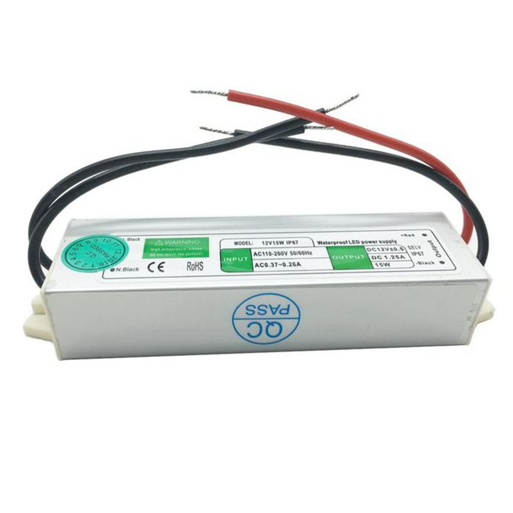 Switching Power Supply AC 110, 260V to DC 12V 15W Waterproof With Short Circuit