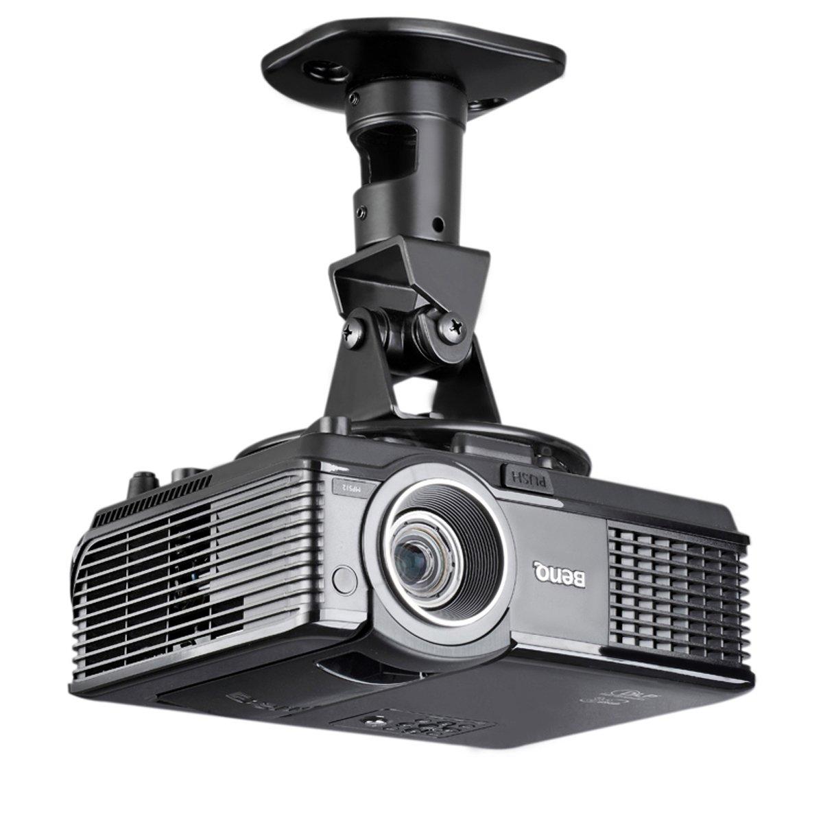 suptek Universal Projector Ceiling Mount Bracket Black Projection Mount (PR01B)