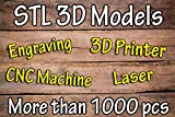 3D model STL for artcam, cnc, 3D printer