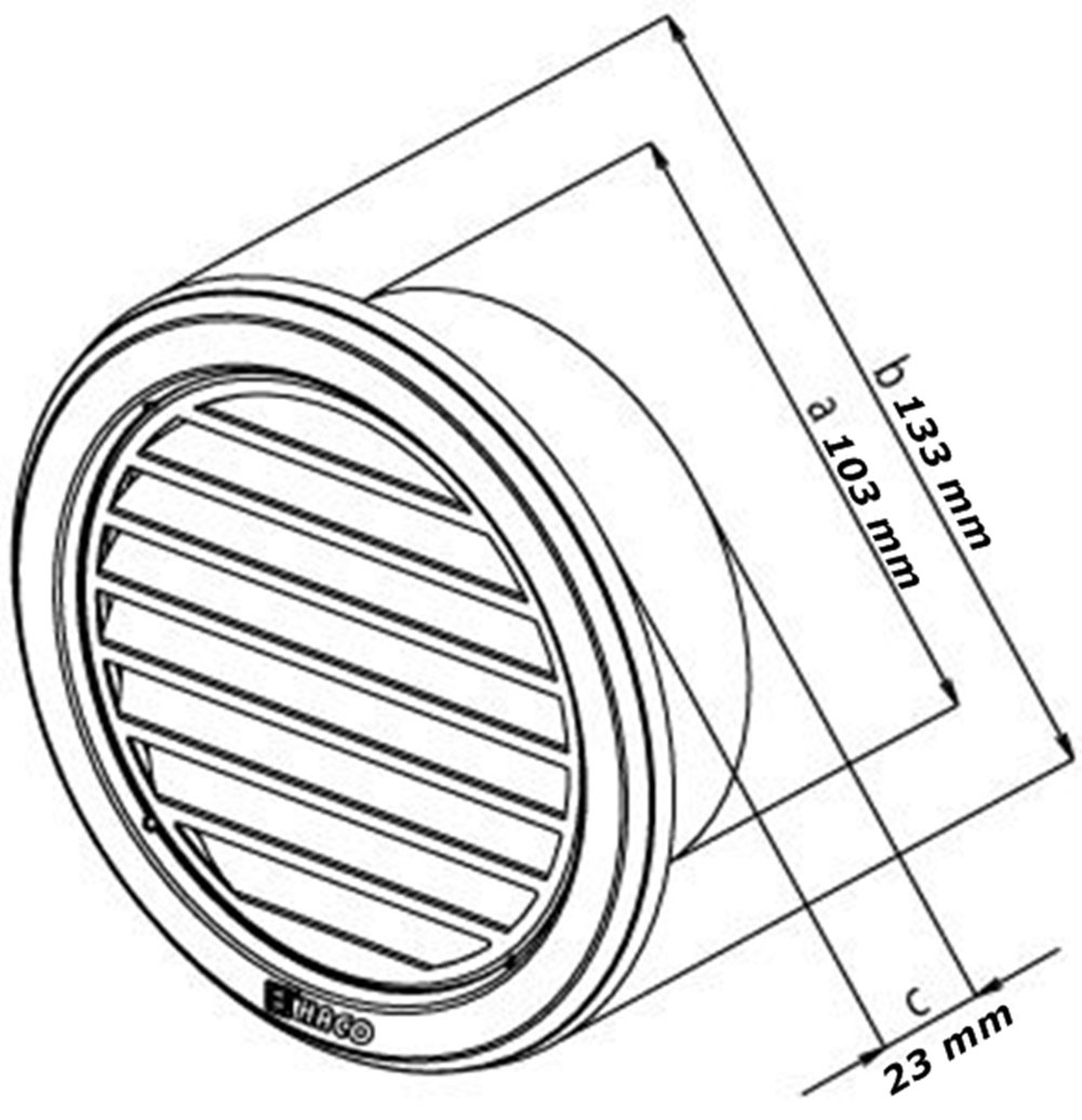 Circulaire en acier inoxydable Grille de ventilation couvrir /Ø110mm