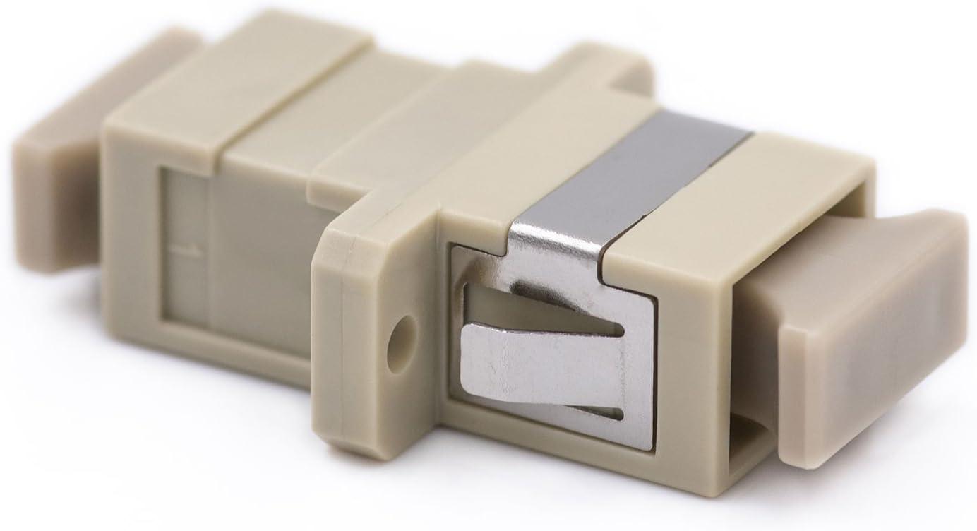 Adapters Aqua Ceramic Sleeves /& Dustcaps 20 Piece Sheet SC//Duplex 50//125 OM3