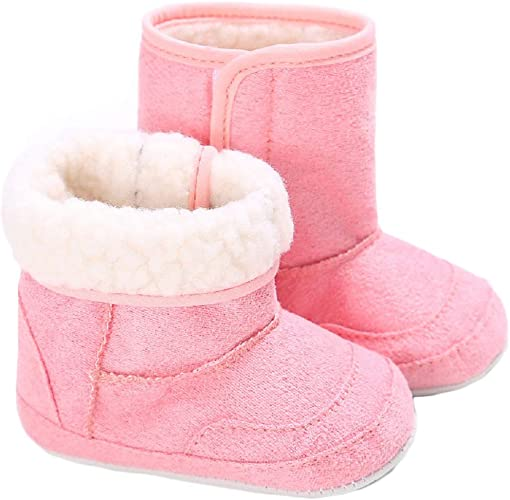 Coper Toddler Baby Girl Snow Boots Soft Sole prewalker Crib Shoes