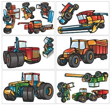 Samunshi 13 Teiliges Trecker Traktor Und Fahrzeug Set