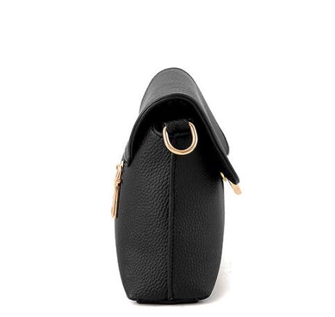 ca7bdd280 Bolso De La Señora Mini Bolso De La Mensajera,Black-24 * 6 * 14cm:  Amazon.es: Ropa y accesorios