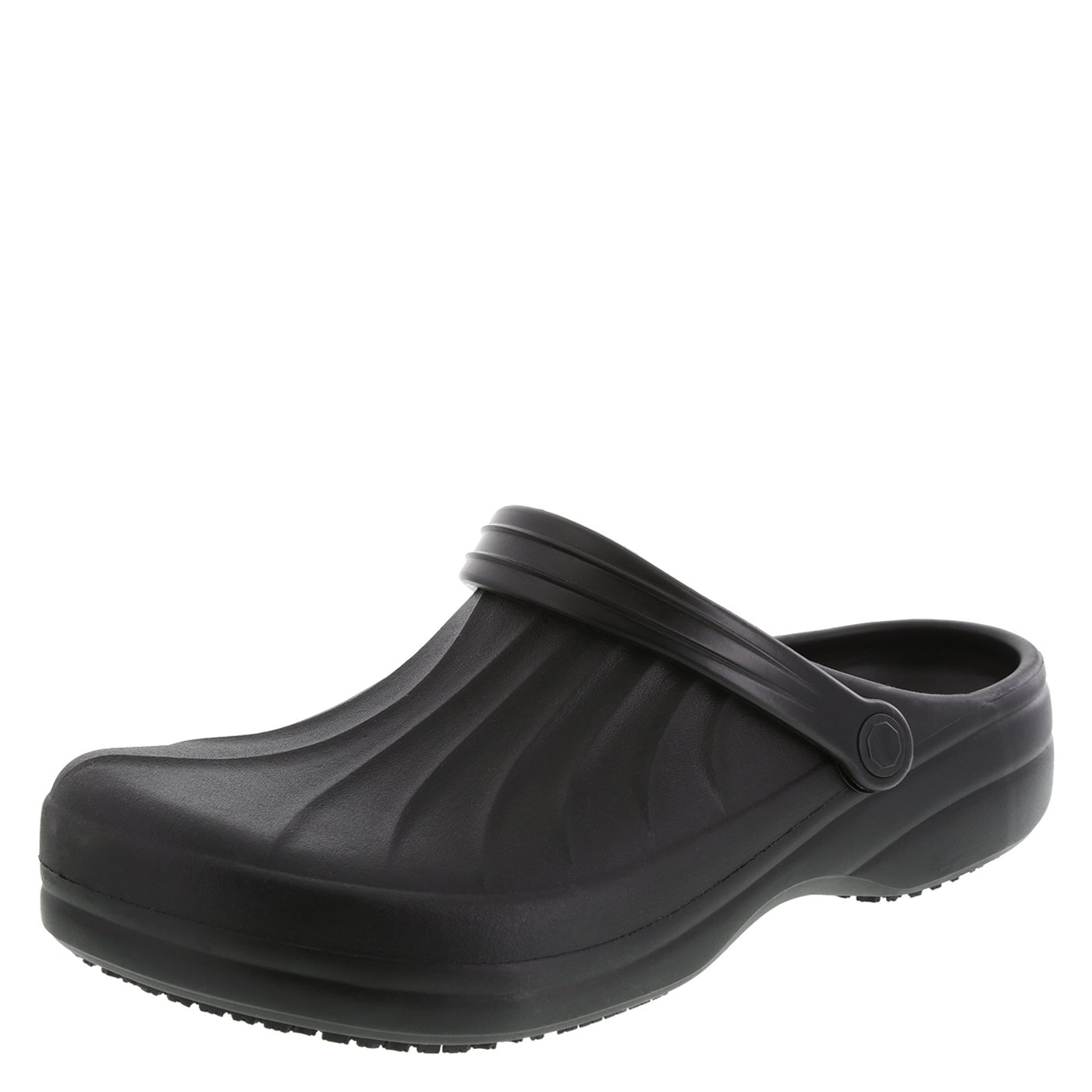 safeTstep Slip Resistant Men's Black Men's Complete Clog 11 Regular