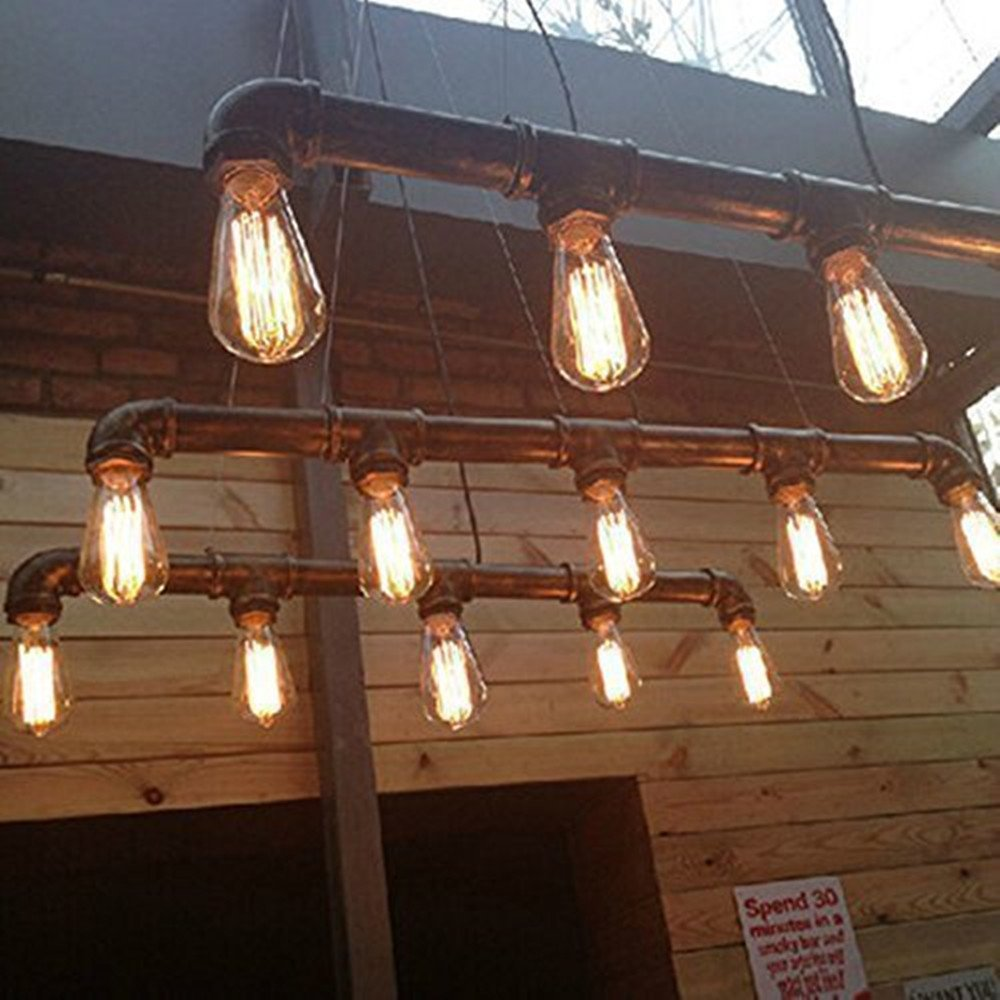 pendant steampunk chandelier light rustic gift unusual industrial il listing fullxfull fixture cage