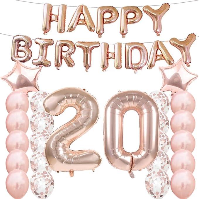 Amazon.com: 20 cumpleaños decoraciones suministros de fiesta ...