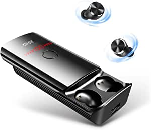 Wireless Earbuds, TWS Bluetooth Headphones 5.0 with LED Flashlight 6000mAh Charging Case as Power Bank 210H Playtime/Touch Control/IPX6 Waterproof Wireless Earphones Built-in Mic Single/Twin Mode