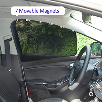 aokway Car Sun Shade, Car Side Window Shade Mesh Magnetic Universal Fit for rv Truck UV Protection 2 PCS(Front): Automotive