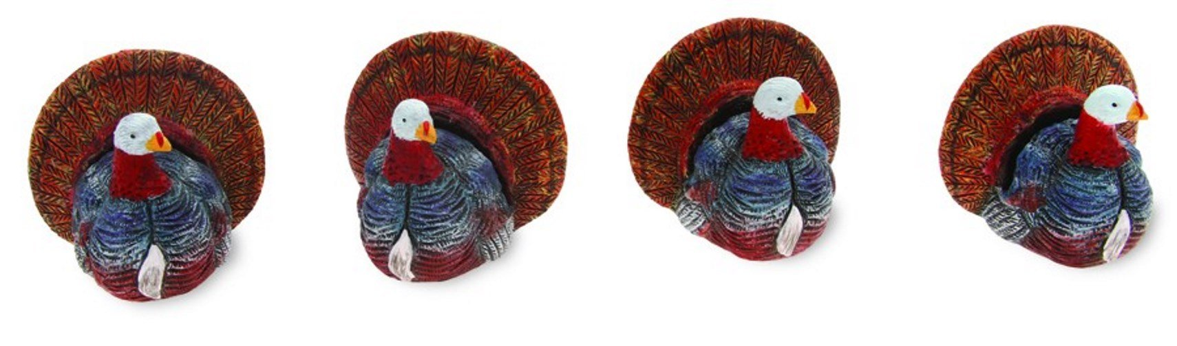 Boston International Turkey Collection Buffet Markers, Multicolor, Set of 4