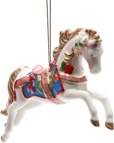 Glass Carousel; Christmas Ornament; FREE SHIPPING !!!