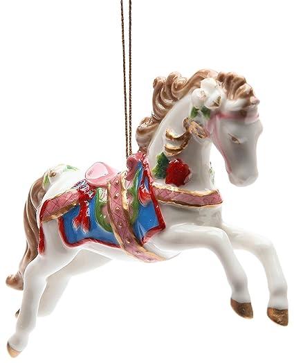 "StealStreet SS-CG-10682 4.88"" White Painted Carousel Horse Christmas  Tree Ornament - Amazon.com: StealStreet SS-CG-10682 4.88"