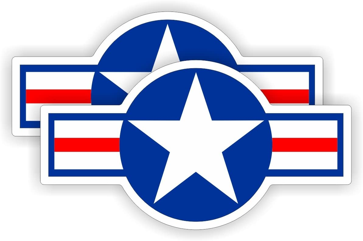 UNITED STATES Armed Forces Aircraft Roundels USAF USMC US Navy 3.7 95mm Decals x2 Vinyl Stickers