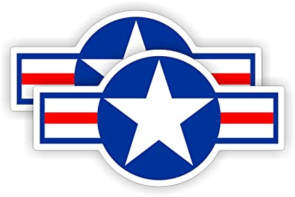 2 United States Air Force Symbol Hard Hat Decals Motorcycle