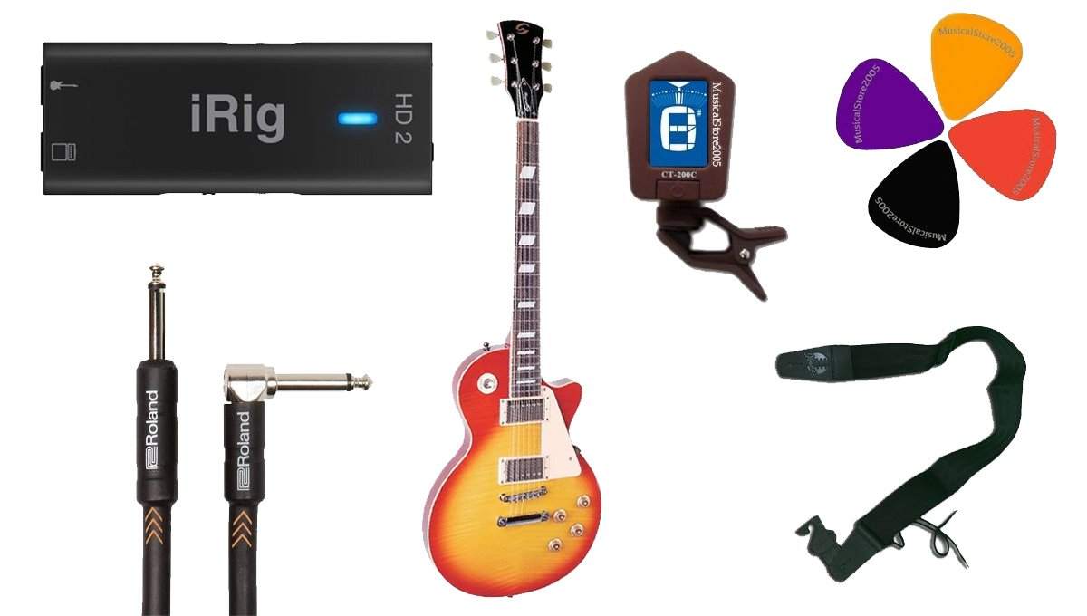 Guitarra eléctrica tipo Les Paul, IK iRig HD2 Starter Kit: Amazon.es: Instrumentos musicales