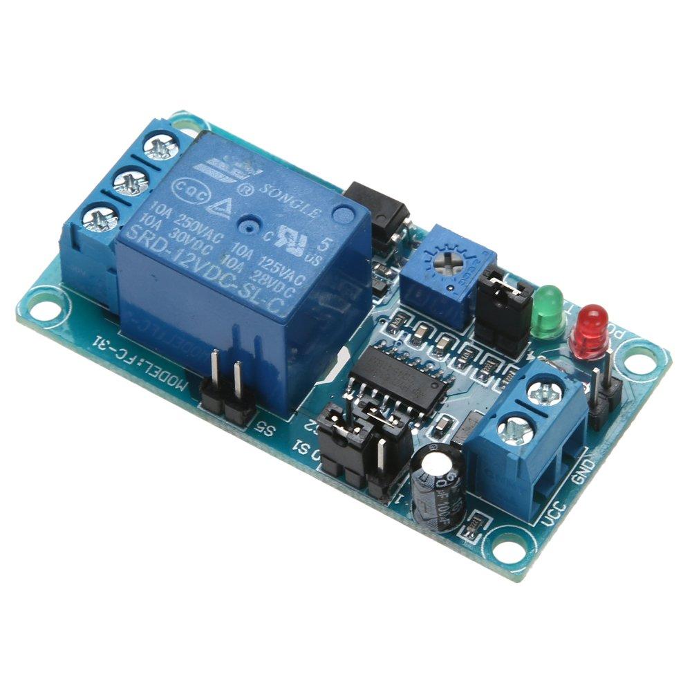vanpower DC 12V Temporisation du relais temporis/é Allumer retarder D/ésactiver le commutateur de vibration Modul