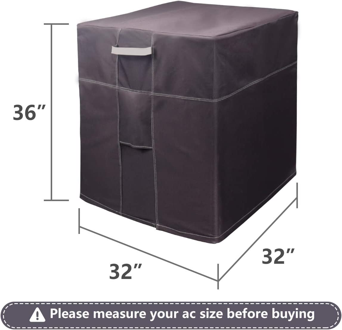 BJADES Central Air Conditioner Cover,Outside Waterproof Winter Covers for AC Units with Mesh Air Vent,Square 24L x 24W x 30H inches