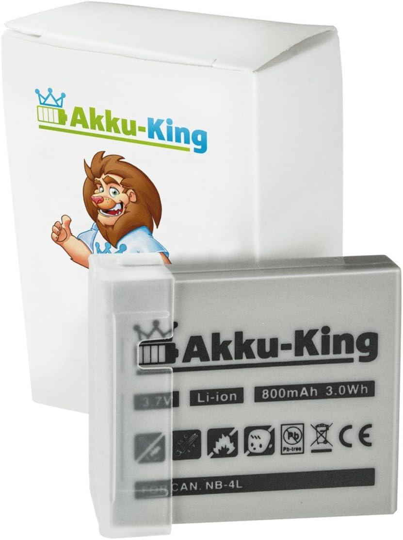 Akku King Akku Kompatibel Mit Canon Nb 4l Li Ion Elektronik