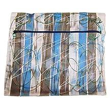 """Modestone Marriott Women's Glitter Hand Painted Canvas Bag 12"""" x 10 1/2"""" Blue"""