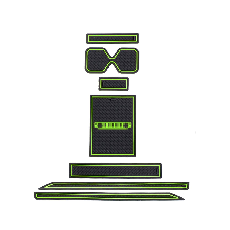 RUIYA Jimny Sierra JB64 JB74 Tappetino Anti-Polvere Antiscivolo Antiscivolo per Tappetini in Gomma Tappetini Antiscivolo 7 Pezzi//Set【Nero】
