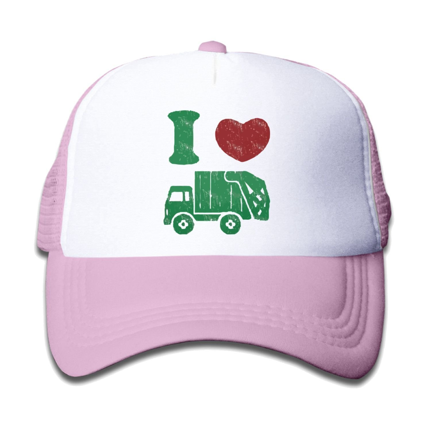 Children's I love Trash Garbage Trucks cap Truck Hat Cap Black (5 colors)