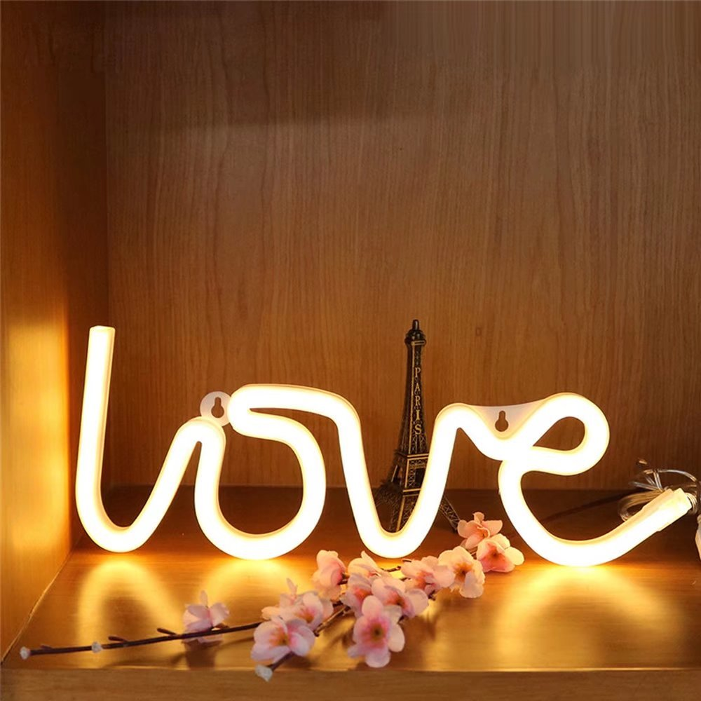 CSKB Neon Light LED Love Sign Decor Light,Marquee Light for Chistmas Wall Décor Battery operated