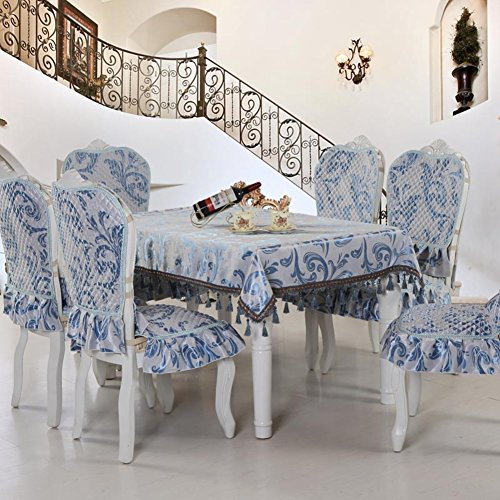 Pca Cover - European style Restaurant Decoration Chair cover,Luxury Household Kitchen Hotels Dining Decoration Chair cover 1 pc-A