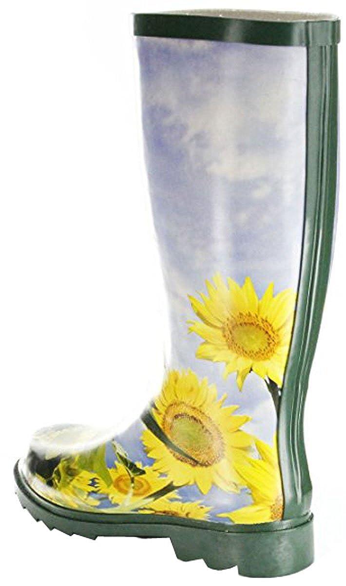 Vista Schuh Schuh Vista Damen Gummistiefel SonnenBlaume Blau Gelb ef78ed