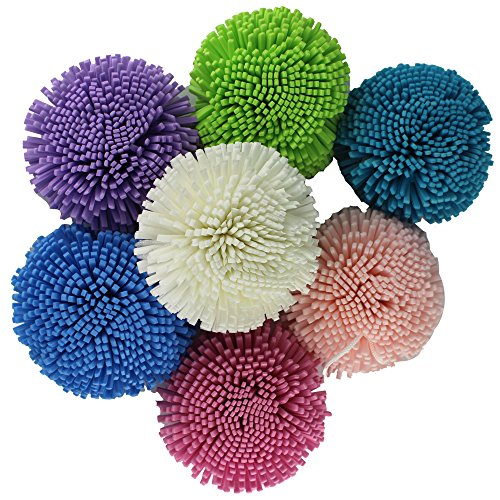EYX Formula Natural Soft Shower Bouquet Sponge Body Scrubber Exfoliating Foam Ultimate Lather Bath Sponge for Cleaning Puff