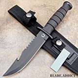 """10.5"""" TACTICAL BOWIE SURVIVAL HUNTING KNIFE MILITARY Combat Fixed Blade + SHEATH"""