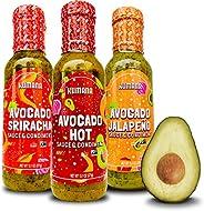 Kumana Avocado Hot Sauce. Made with Ripe Avocados & Chili Pepp