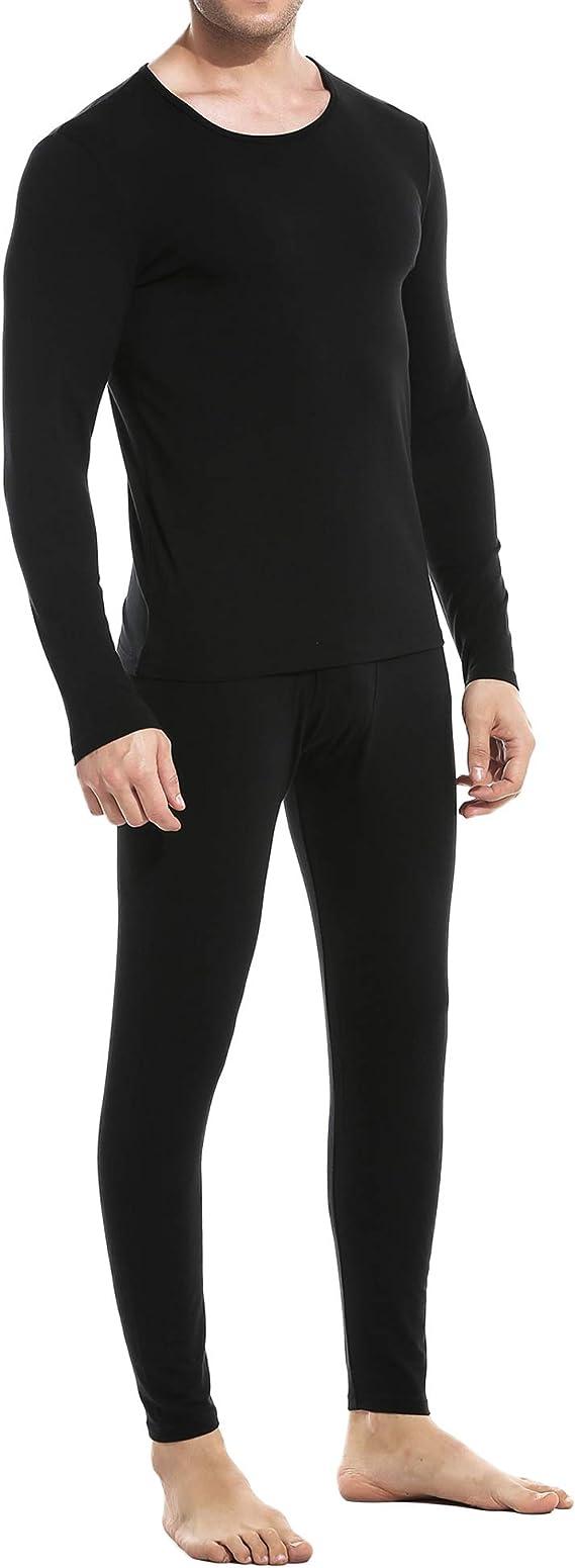 Ekouaer Thermal Underwear for Men Fleece Lined Long John Sets with ...