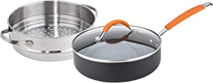 Joe Wicks Easy Release Aluminium non-stick cookware - 24cm/2.8L 2in1 Multipan (Saute/steamer)