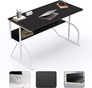 "Computer Desk 47"" Writing Table for Home Office Study Work, Simple Desk Style PC Laptop Notebook Workstation"