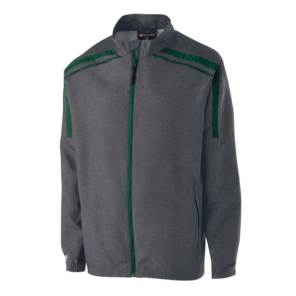 Holloway Raider Youth Lightweight Jacket (Small, Carbon Print/Forest) by Holloway