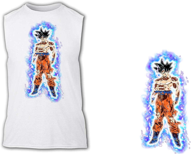 Camiseta SIN Mangas A3 Goku Ultra Instinto Aura Fuerza Tshirt ...