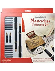 Manuscript Calligraphy Set – 20 Pieces, Dodec Fountain Pens, Nibs, Variety of Ink Cartridges, A5 Practice Pad, Guideline Sheets And Calligraphy Manual – Ideal For All Calligraphers!