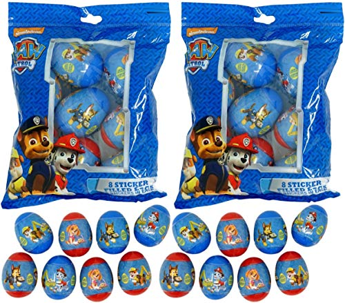 - Sticker Filled Eggs (16 Count) for Easter Eggs Hunt, Decor, Baskets (Paw Patrol)