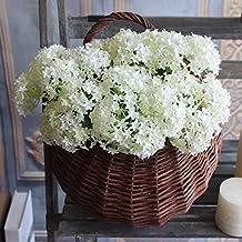 European Hydrangea Wedding Decoration Mariage Bridal Home Floral Decor Flower Arrangement Fake Silk Flower Branch Artificial