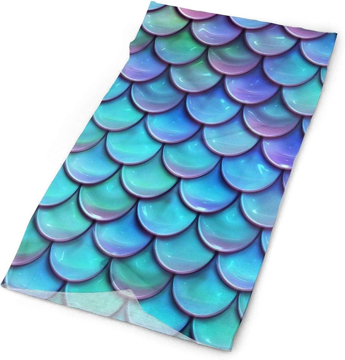 Mermaid Star Moon Face Mask UV Sun Mask Dust Wind Neck Warmer Magic Bandana