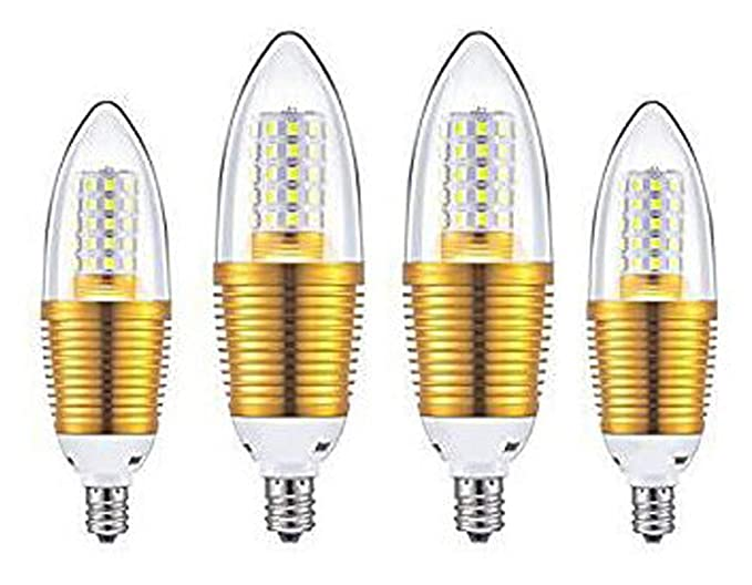 CTKcom 12W E14 LED Bulbs Candelabra LED Light Bulbs(4 Pack)- 85-100W ...