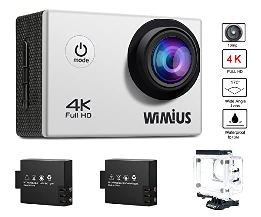 """237 opinioni per Action Cam, WiMiUS Q1 4k Sport Action Camera Full HD 16MP WIFI 2.0"""" Schermo LCD,"""