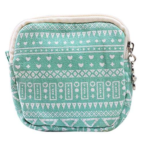 Yooan Cute Cartoon Sanitary Napkin Bag Purse Holder Organizer Storage Bags with Zipper Traveling Travel Napkins Towel Pouch Pad Holder