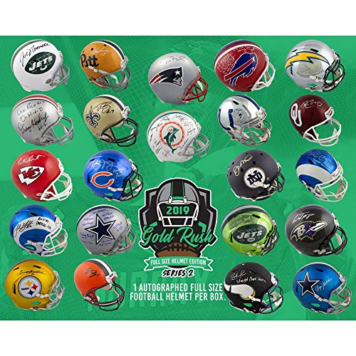 2019 Gold Rush Autographed Full Size Football Helmet Edition Series 2 4-Box - 2 Series Sealed Factory Case