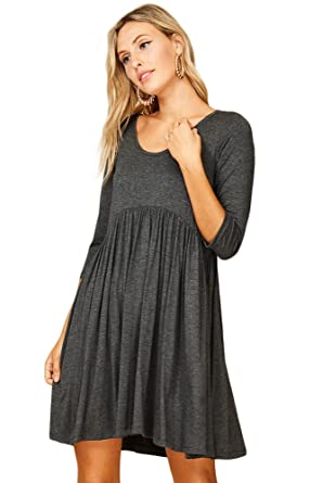 a39e3a0697d Annabelle Empire Waist Dress Maternity with Sleeves for Women Small Mid  Grey D5227