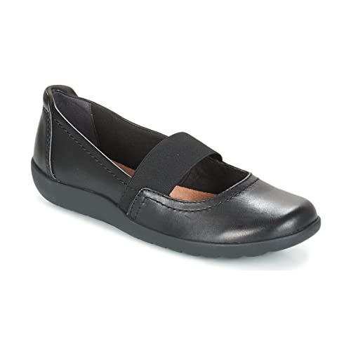 Clarks Women's Flats Mary Janes Shoes Medora Ally Black Leather 3 ...