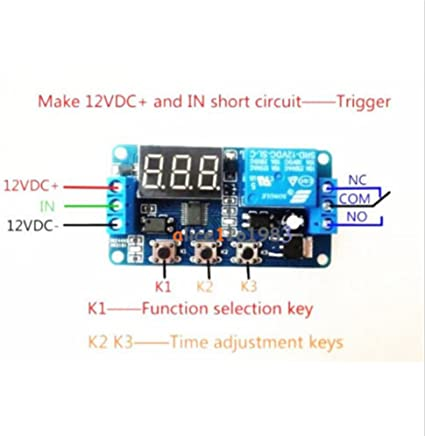 24V LED Automation Delay Timer Control Switch Relay Module with case
