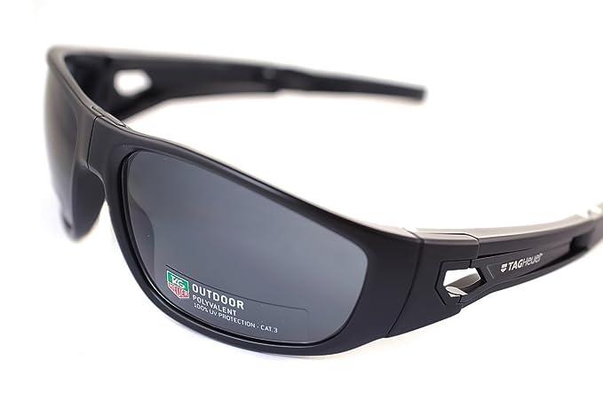 Tag Heuer KALIBRE FOLDING TH9401 101 - Gafas de sol plegables para hombre, color negro, gris, gris y gris oscuro