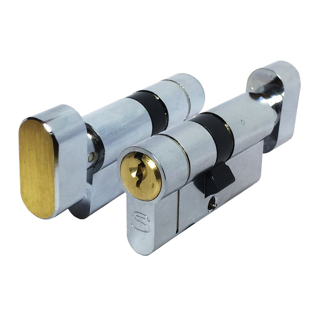 Anti-Snap Euro Profile Cylinder Dual Finish 35//45 by Schlosser Technik Schlosser Technik Ultimate/Â/² UPVC Door Lock