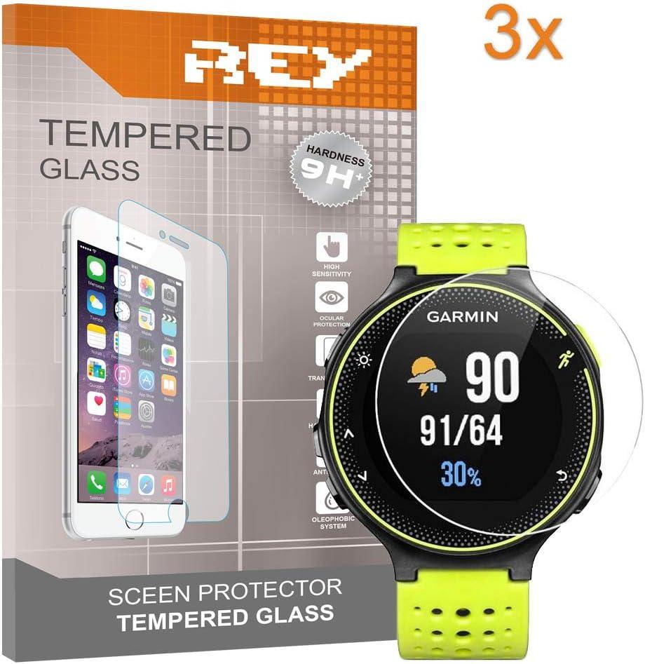 3X Protector de Pantalla para Garmin Forerunner 220 225 235 620, Cristal Vidrio Templado Premium
